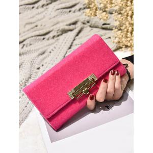 Metal Embellishment Tri Fold Wallet -
