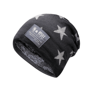 Outdoor Star Pattern Decorated Thicken Knitted Beanie -