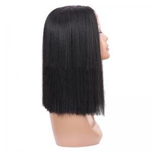Short Center Parting Straight Lace Front Synthetic Wig -