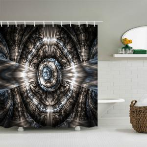 Fractal Art Graphic Waterproof Polyester Bath Curtain -