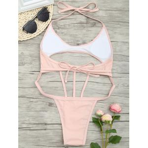 Low Waist One Piece Cut Out Swimsuit -