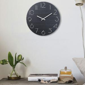 Analog Number Wooden Round Wall Clock -