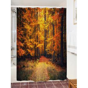 Autumn Forest Print Waterproof Shower Curtain -