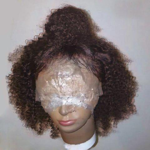New Short Free Part Shaggy Afro Curly Synthetic Lace Front Wig