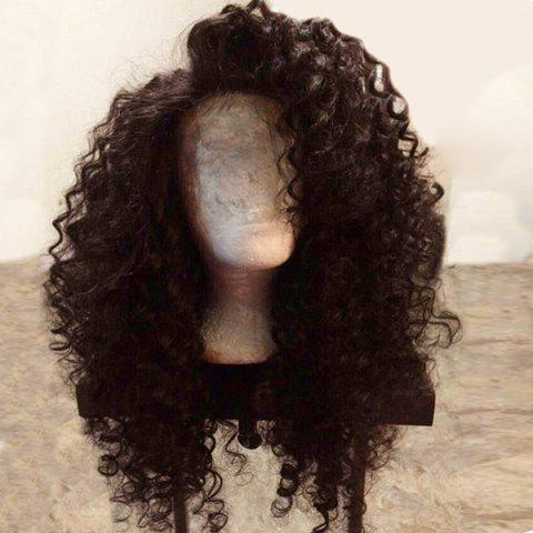 Buy Long Side Parting Fluffy Deep Wave Lace Front Synthetic Wig