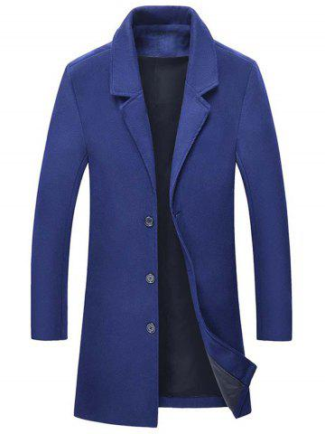 New Single Breasted Wool Blend Coat with Side Pockets