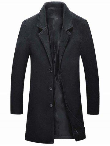 Outfit Single Breasted Wool Blend Coat with Side Pockets