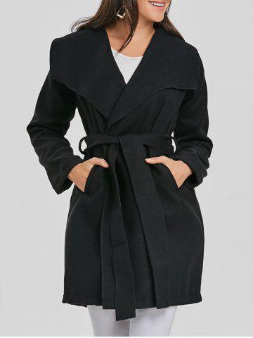 Buy Belted Wool Wrap Coat