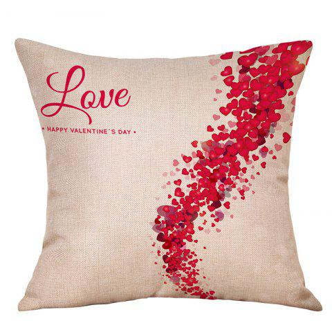 Outfit Heart Print Valentine's Day Decorative Linen Pillowcase