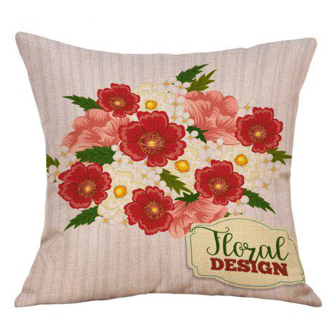 Store Flowers Print Valentine's Day Decorative Linen Pillowcase