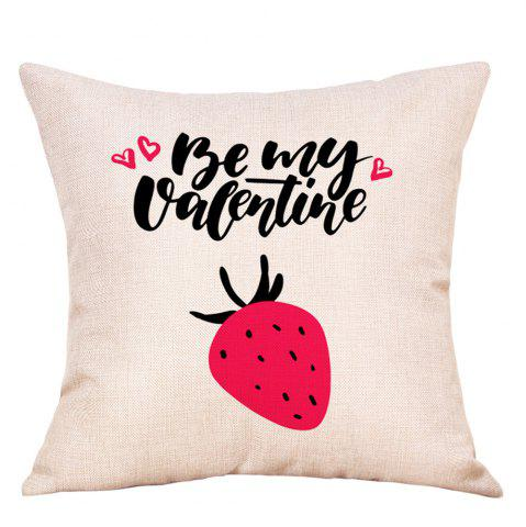 Sale Fruit Print Valentine's Day Decorative Linen Pillowcase
