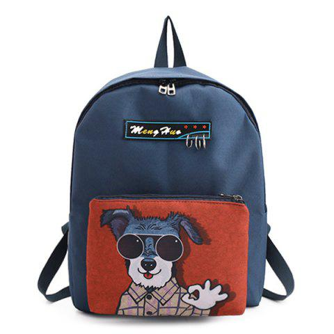 Cheap Detachable Cartoon Print 2 Pieces Backpack Set