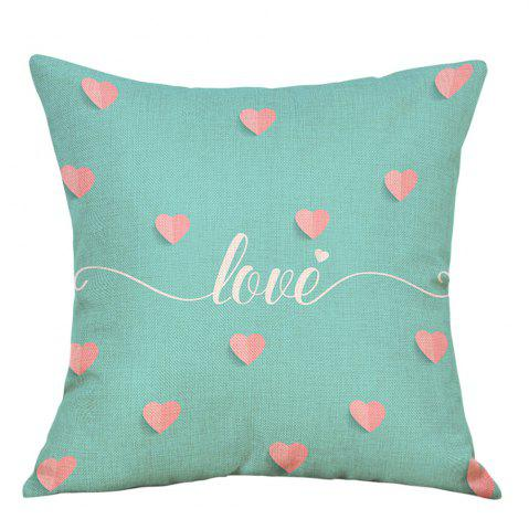 Store Hearts Love Print Valentine's Day Decorative Linen Pillowcase
