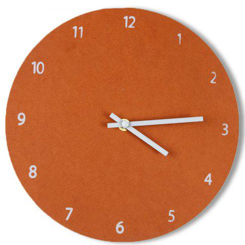 Analog Number Round Thick Wooden Wall Clock