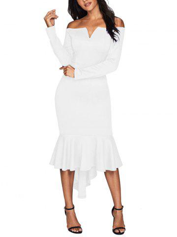Off The Shoulder V Cut Robe sirène