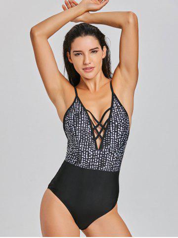 Caged Cutout High Leg One-piece Swimsuit