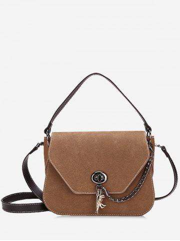 Fancy PU Leather Stitching Handbag With Strap