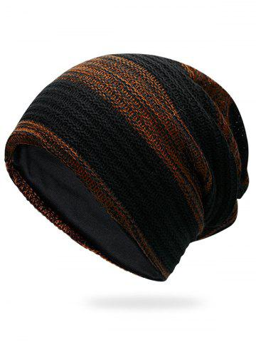 Latest Outdoor Striped Pattern Color Splice Crochet Knitted Beanie