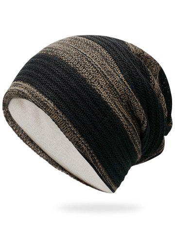 Shops Outdoor Striped Pattern Color Splice Crochet Knitted Beanie