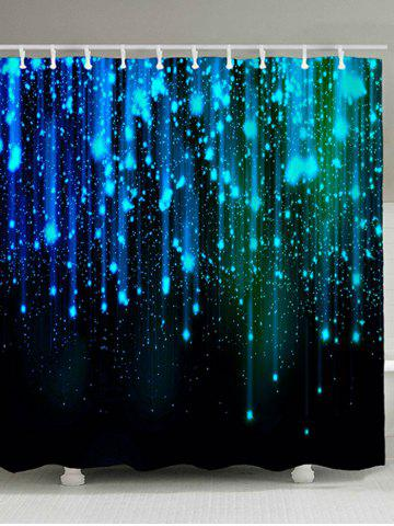 Trendy Fantasy Star Night Print Polyester Waterproof Shower Curtain