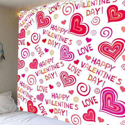 Valentine s Day Full Heart Printed Valentine s Day Wall Hanging Tapestry