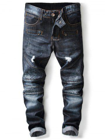 Hot Panel Design Ripped Jeans