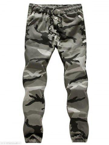 Trendy Drawstring Camouflage Jogger Pants