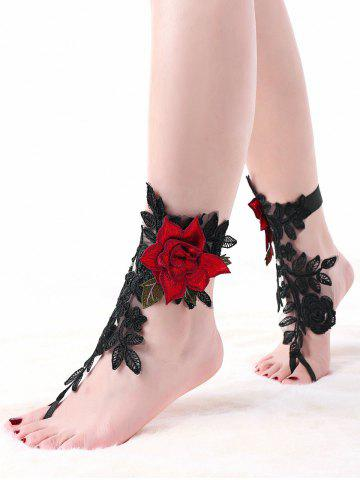 Outfits Flower Embroidered Lace Ankle Bracelet