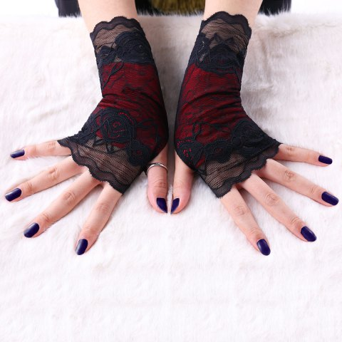 Chic Gothic Lace Fingerless Gloves