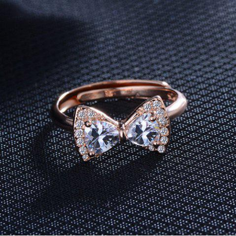 New Rhinestone Alloy Bowknot Finger Ring