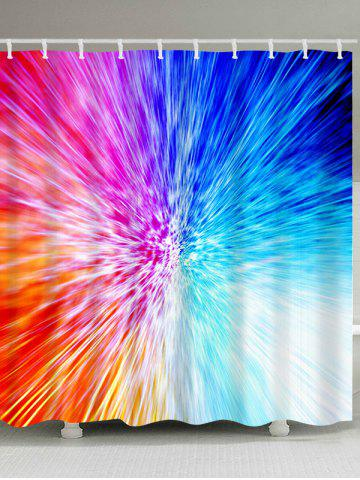 Latest Colorful Abstract Light Waterproof Fabric Shower Curtain