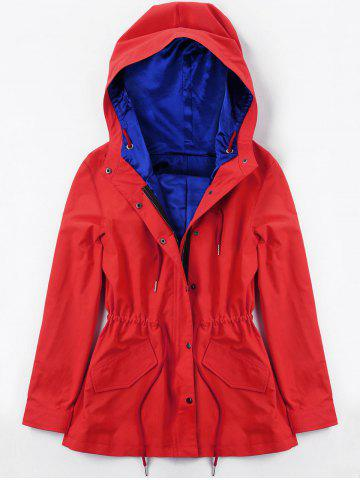 Hot Drawstring Hooded Heated Jacket