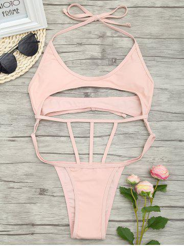 Affordable Low Waist One Piece Cut Out Swimsuit