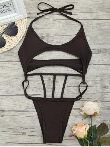 Discount Low Waist One Piece Cut Out Swimsuit