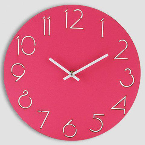 Latest Analog Number Wooden Round Wall Clock