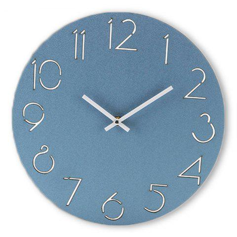 Sale Analog Number Wooden Round Wall Clock