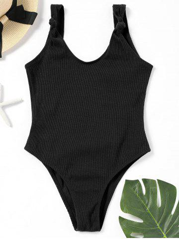 Outfits Ribbed High Leg One Piece Swimwear No Pad