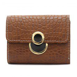 Embossing PU Leather Tri Fold Wallet -