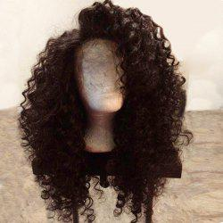 Long Side Parting Fluffy Deep Wave Lace Front Synthetic Wig -