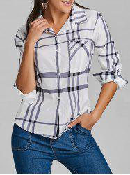 Plaid Pocket Tunic Shirt -