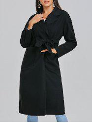 Pockets Wool Wrap Coat -