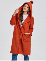 Pocket Longline Hooded Coat -