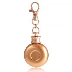 1oz Stainless Steel Mini Keychain Hip Flask -
