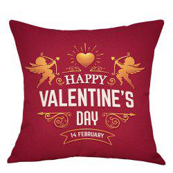Valentine's Day Cupid Print Decorative Linen Pillowcase -