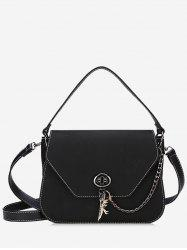 PU Leather Stitching Handbag With Strap -