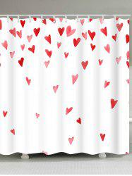 Valentine's Day Heart of Love Patterned Shower Curtain -