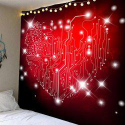 Love Map Printed Valentine Theme Wall Hanging Tapestry -