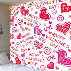 Valentine's Day Full Heart Printed Wall Hanging Tapestry -
