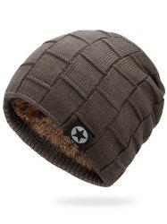 Outdoor Star Label Embellished Thicken Slouchy Beanie -