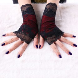Gothic Lace Fingerless Gloves -